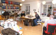 Bloggen besøkte redaksjonen i Gamla stan i Stockholm i 2009